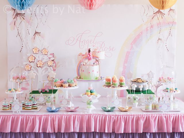 "Photo 2 of 28: Enchanted Pastel Rainbow Fairy / Birthday ""Enchanted Pastel Rainbow Fairy Party"" 