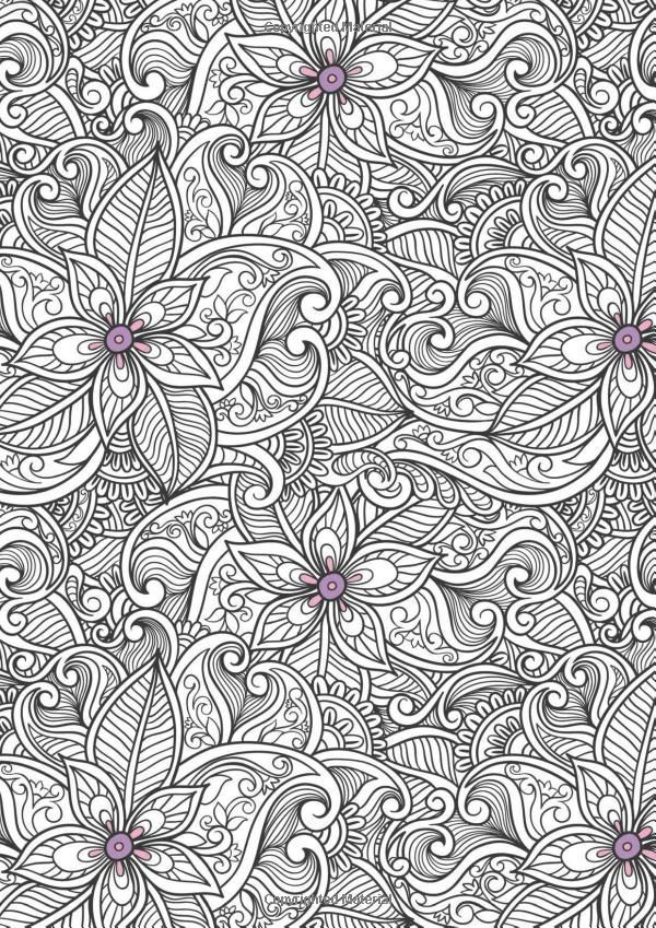 Flowers Stress Coloring Book Anti Stress Coloring Book Coloring Books