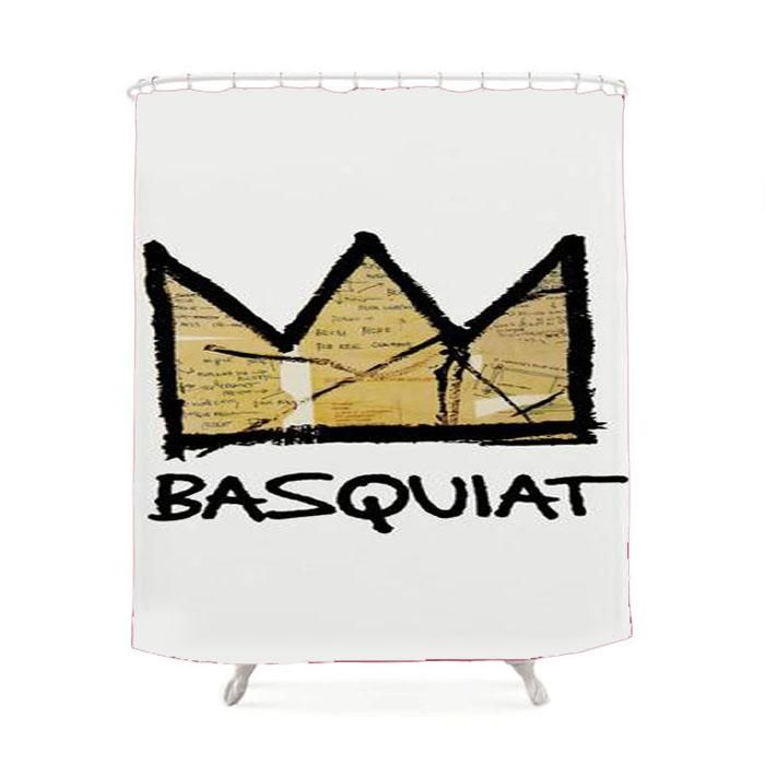 King Basquiat Shower Curtain