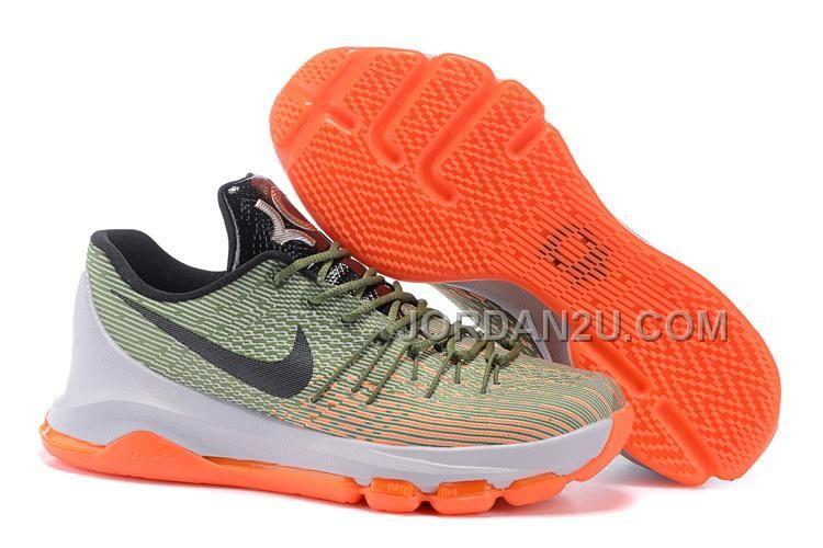 official photos c1efb e4ccb Nike KD VIII Orange Green Black Grey Jordan Shoes, Nike Kd Shoes, Converse  Shoes