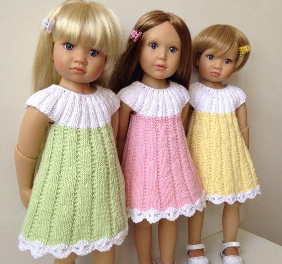 APRIL dress Knitting Pattern 18 inch doll (062) | Puppen ...