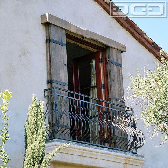 Tuscan Window Shutters Small Balcony Shutters Exterior House Exterior Windows Exterior