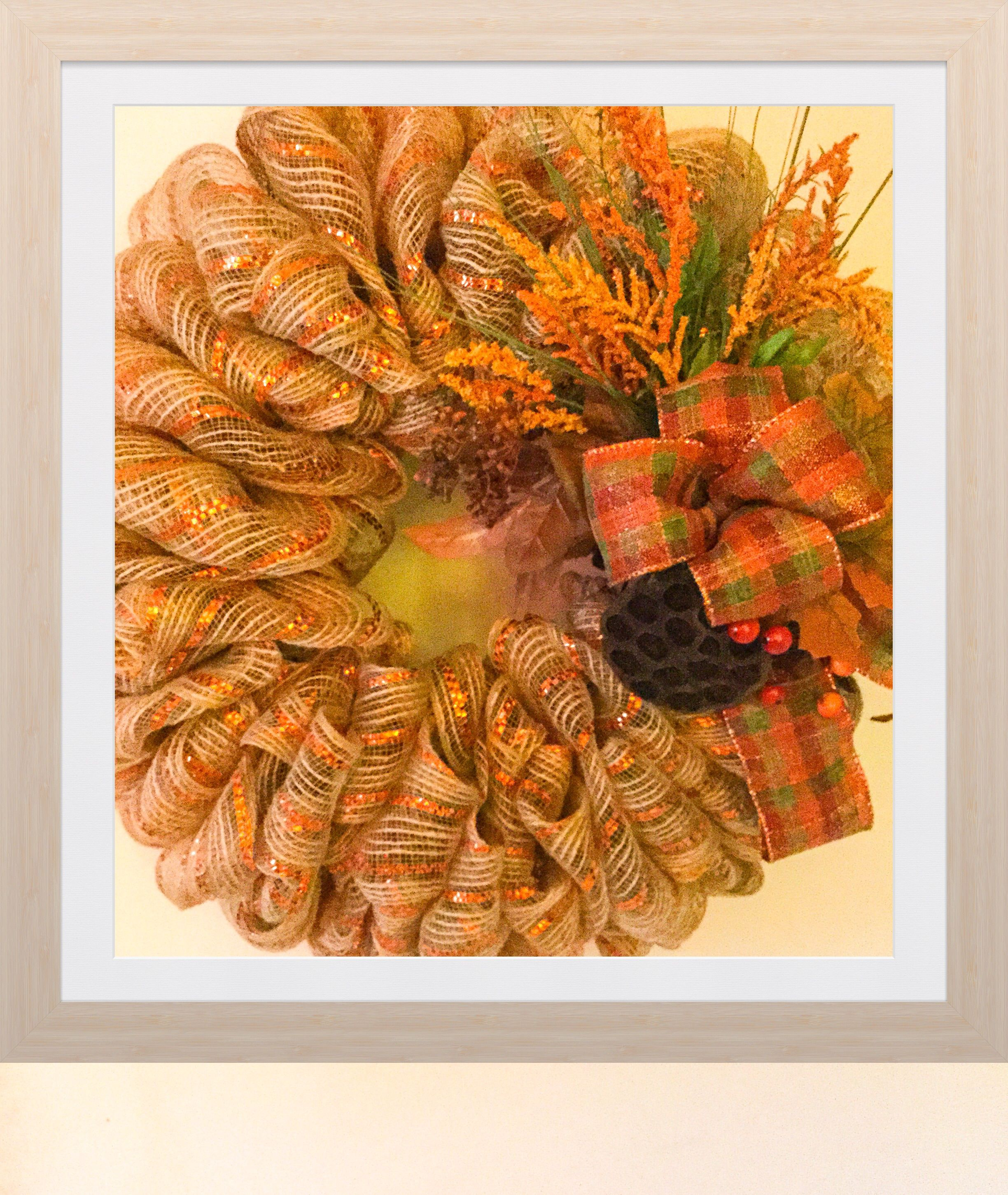 Add this door decor to your home with this harvest wreath for your home this autumn. The color scheme is ideal for the season #scottsmarketplace