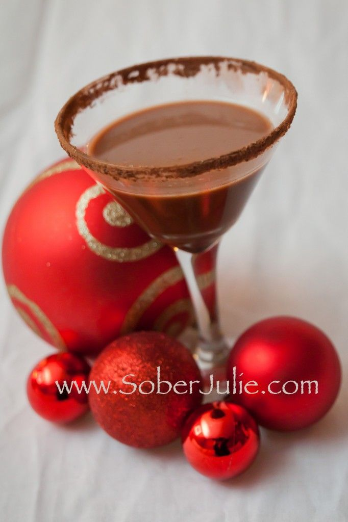 Cocoa Mocktini Chocolate Mocktail Soberjulie Com Perfect Non Alcoholic Drink Recipe For The Christmas Holiday