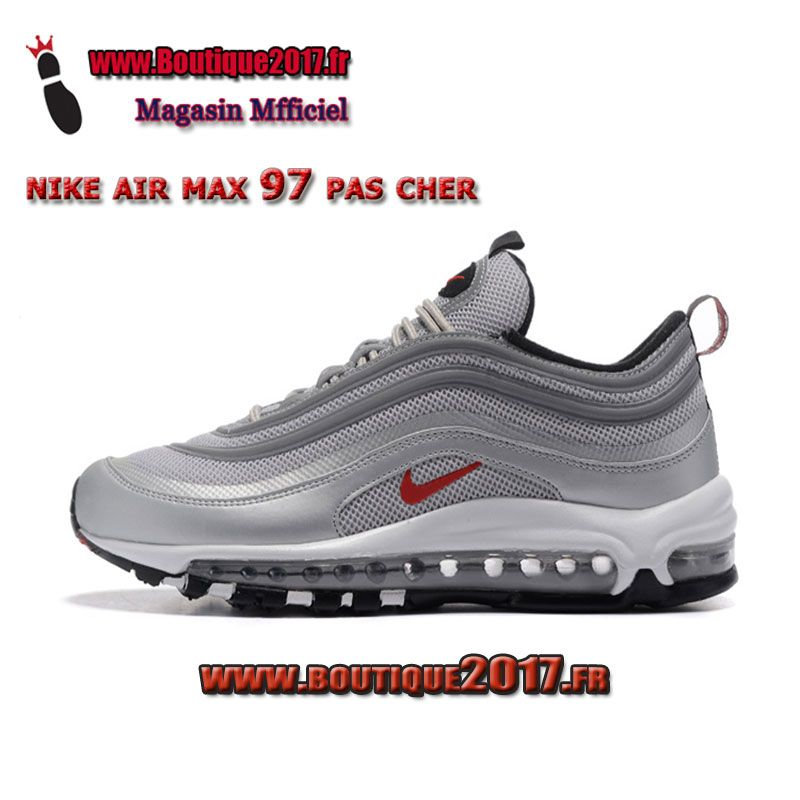 best service 44416 6031d Nike Air Max 97 Gris Rouge Blanc 884421-001 boutique2017