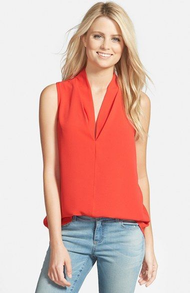 5841748cafddeb Pleione Layered V-Neck Sleeveless Blouse available at  Nordstrom ...