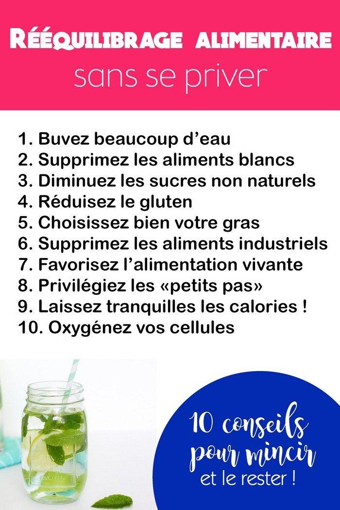 10 conseils pour mincir durablement grâce à un rééquilibrage alimentaire