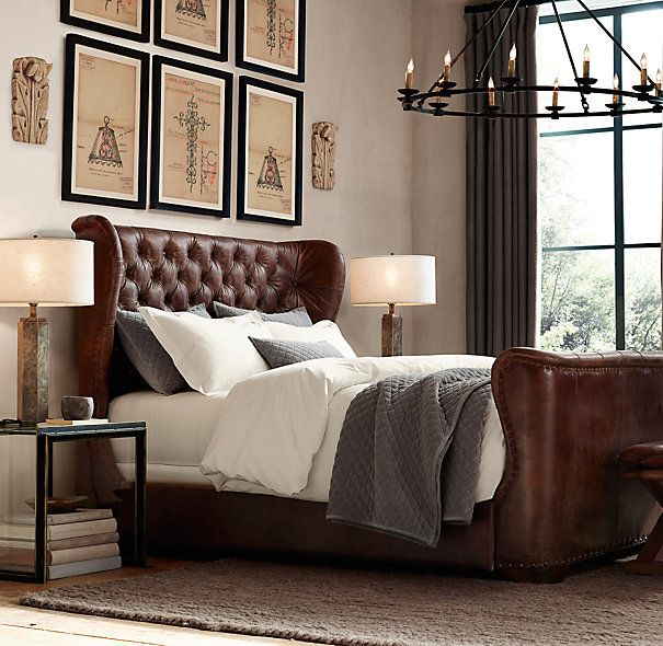 Best Churchill Leather Bed With Footboard Where The Heart Is 400 x 300