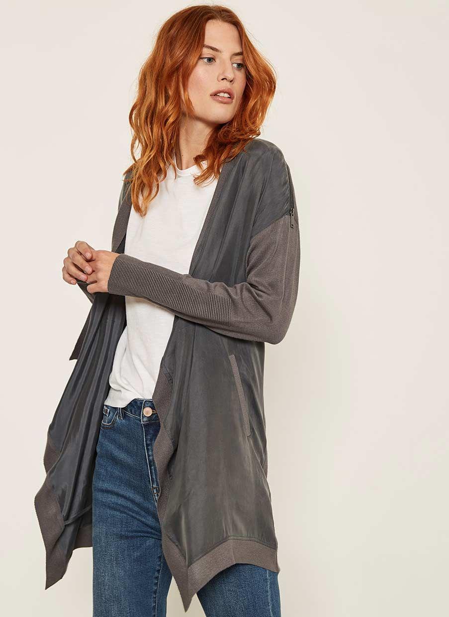 hot sale in stock cute cheap Smoke Open Front Zip Cardigan | Cardigans for women, Fashion ...