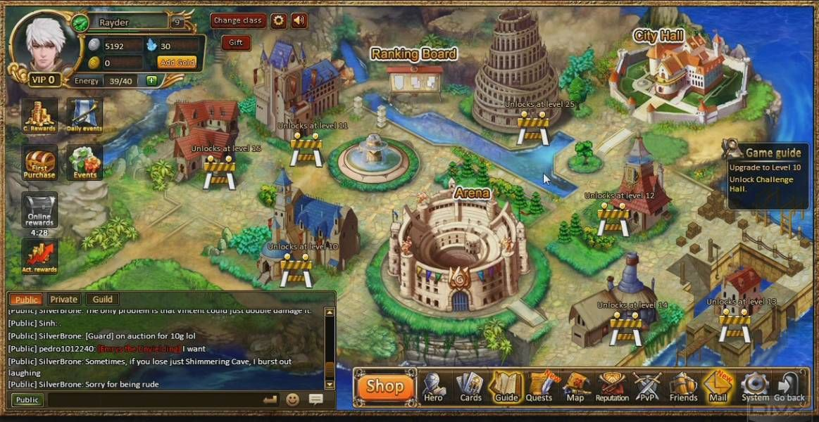 Rise of Mythos is a browser based social game, mixture of