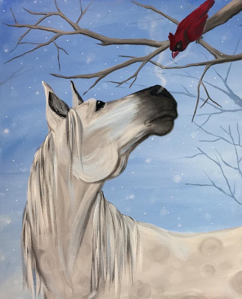 horse and cardinal drawings | Graffiti Paintbar - Nashua's ...