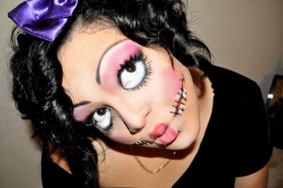 Creepy Doll Halloween Costume Filling in the _____s Freak It\u0027s - easy makeup halloween ideas
