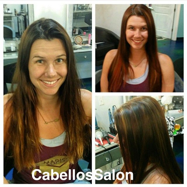 Valerie did a beautiful transformation on Kelsey adding some red and blonde highlights! #CabellosSalon #cabellostally #tally #tallahassee #hairsalon #salon #spa #transformation @behindthechair_com @modernsalon @redken5thave #redken #before #after #highlights #styleyourstory
