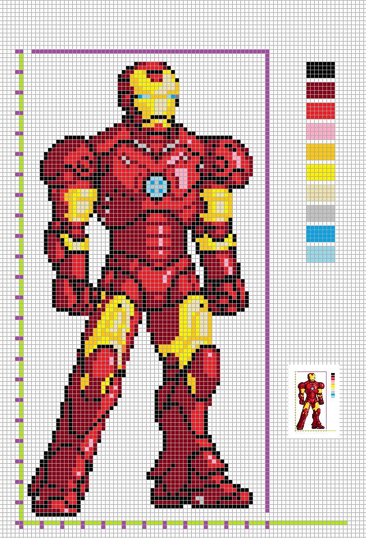 Marvel Pixel Art Grid