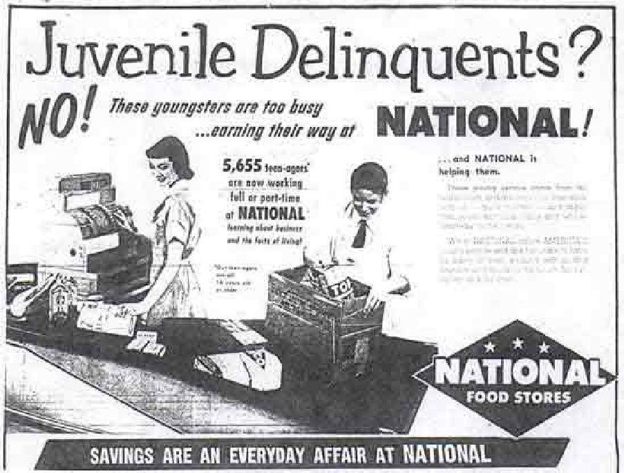 Grocery store job ad Vintage Ads Pinterest Job ads