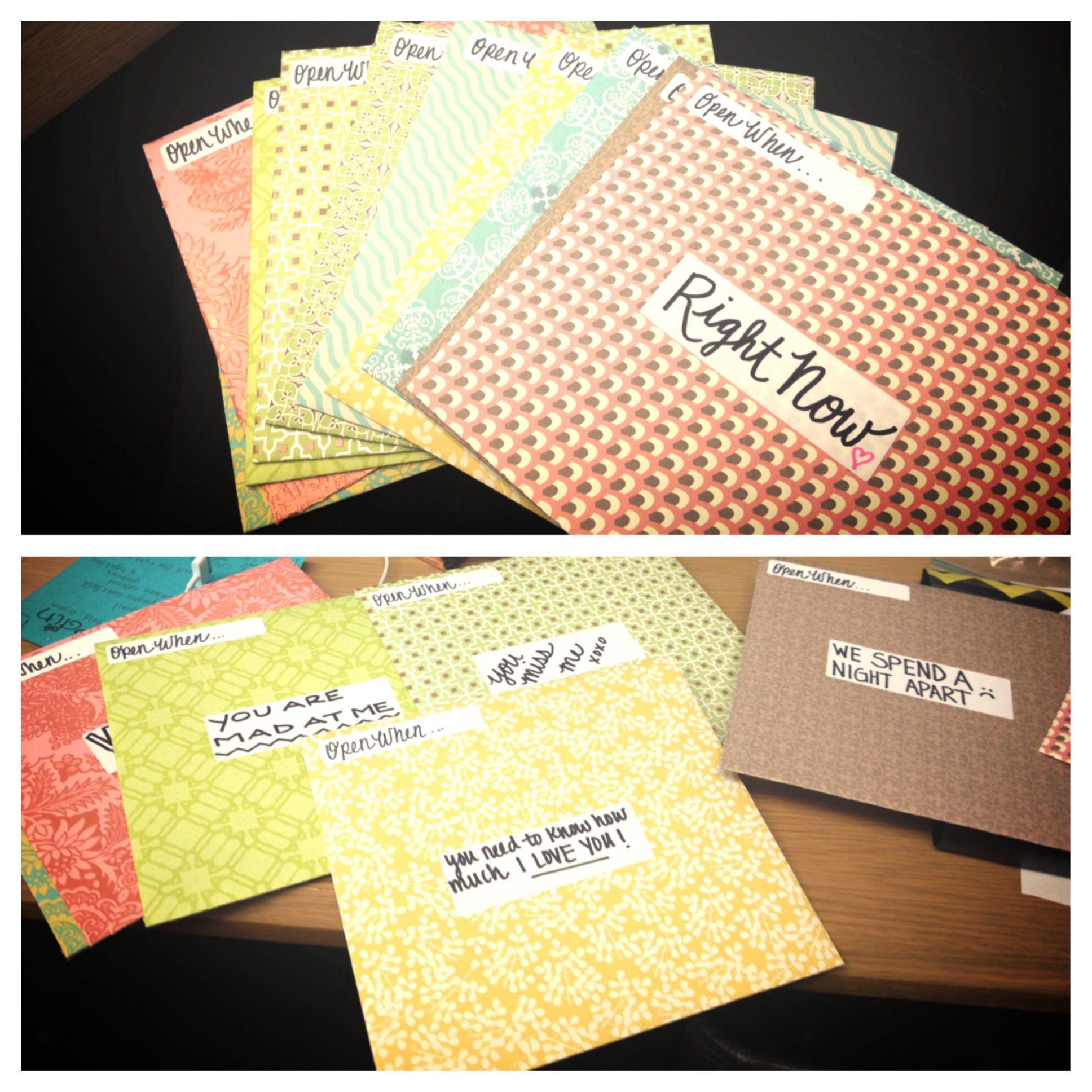 Open When Letters For Boyfriend Gifts Fir Boyfriend