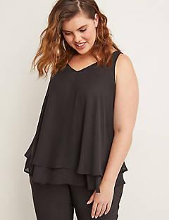 Double Layer Swing Shell Plus Size Tops Lane Bryant Fashion