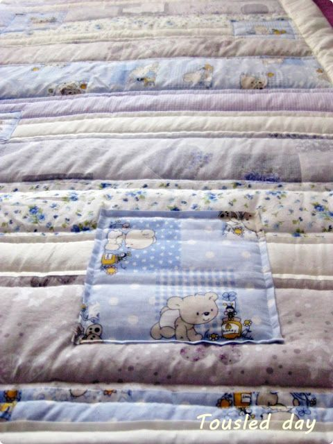 tousled day: How I sew blanket / bed cover / quilt for my son. Tutorial with photos.