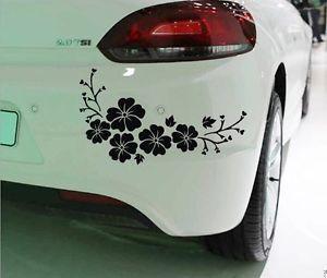 Pc Black Flower Sticker Car Bumper Van Window Laptop JDW VINYL - Vinyl decals car wash