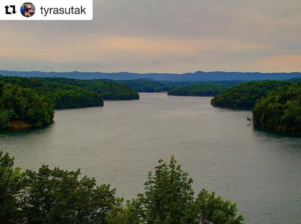 Philpott Lake in Franklin County in Virginia's Blue Ridge | Photo by Instagram user tyrasutak