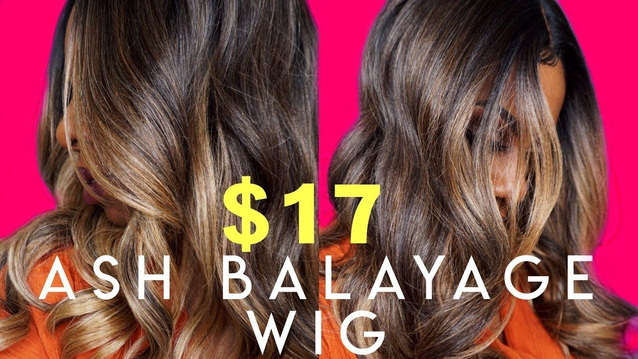 Fool Them 17 Ash Blonde Balayage Wig With Face Framing