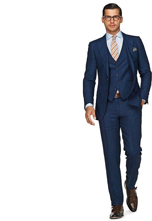 23a3a7c994ce Suit Blue Check Lazio P3548i | Suitsupply Online Store | Male ...