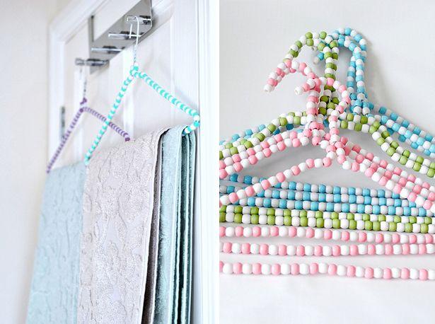 Beaded Hangers Diy Coat Hangers Clothes Hangers With Beads