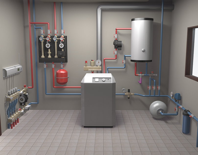 3d Model Of In House Heating System On Behance Home Heating Systems House Heating Floor Heating Systems