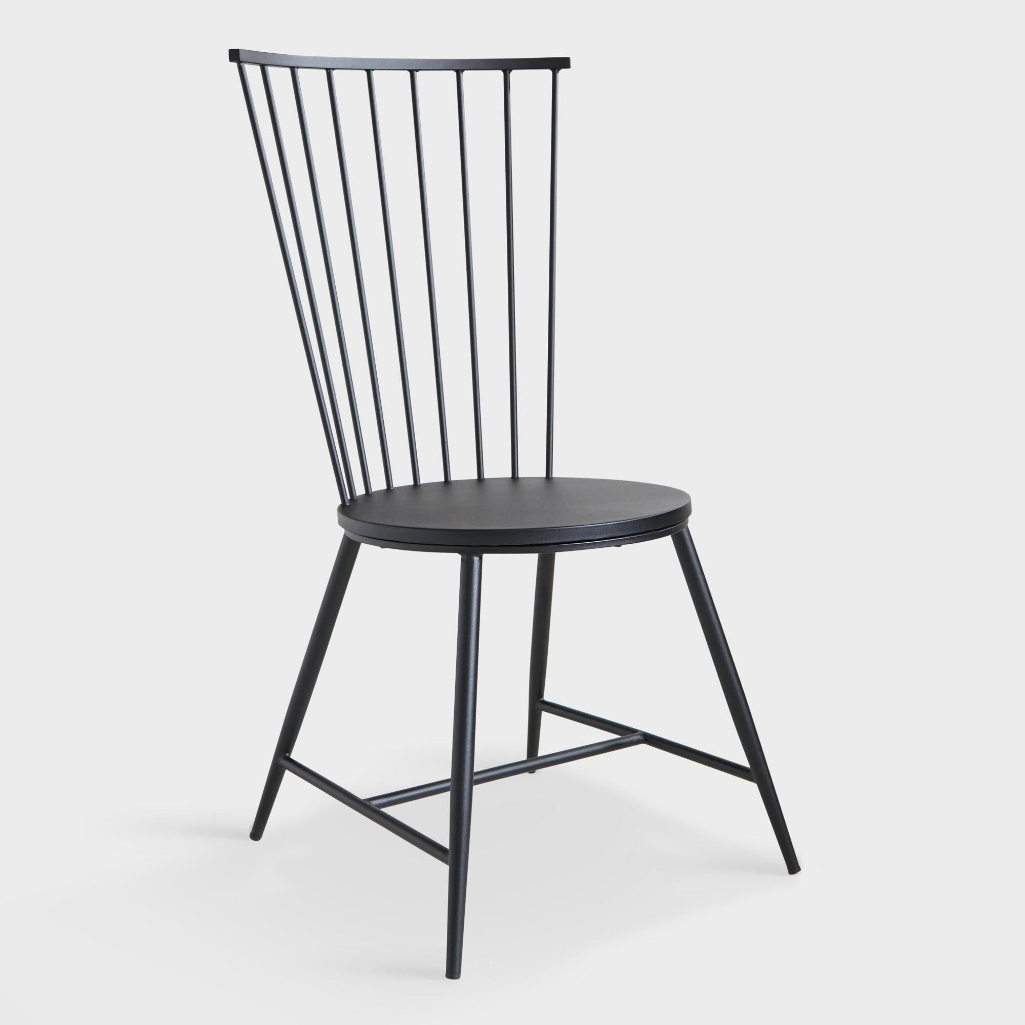 Cheap Black Dining Table And Chairs: Black Steel Neal Dining Chair By World Market