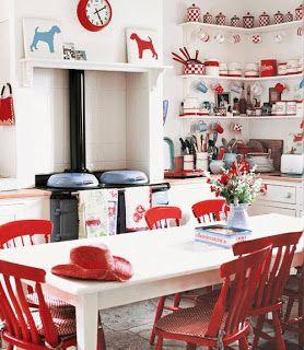 17++ Cocinas en rojo y blanco trends