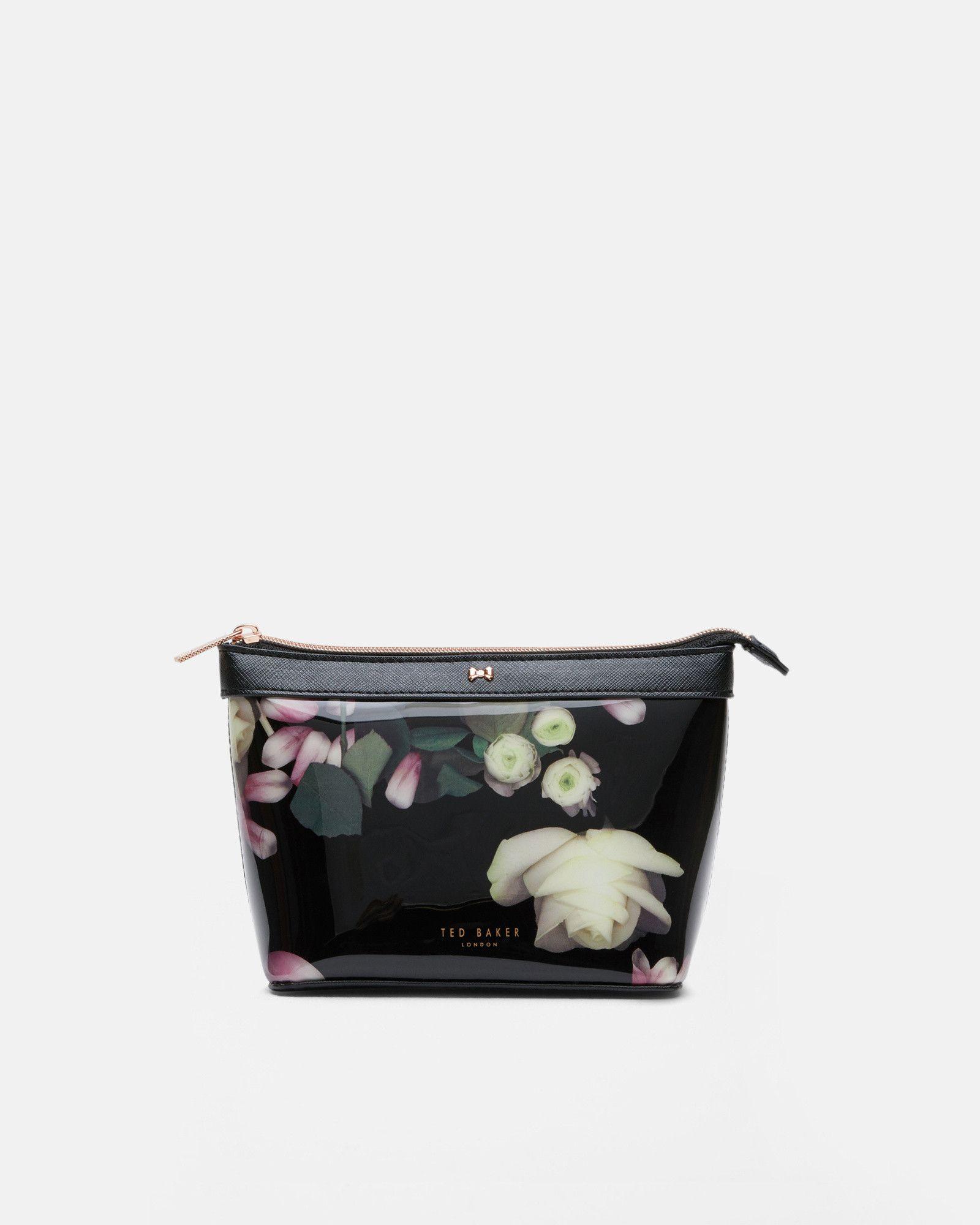 78008797adb Ted Baker Kensington Floral patent make up bag Black | Products ...