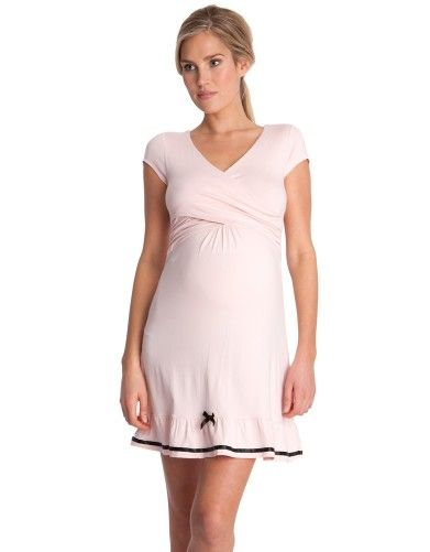 Pink Maternity & Nursing Nightie | Seraphine Maternity