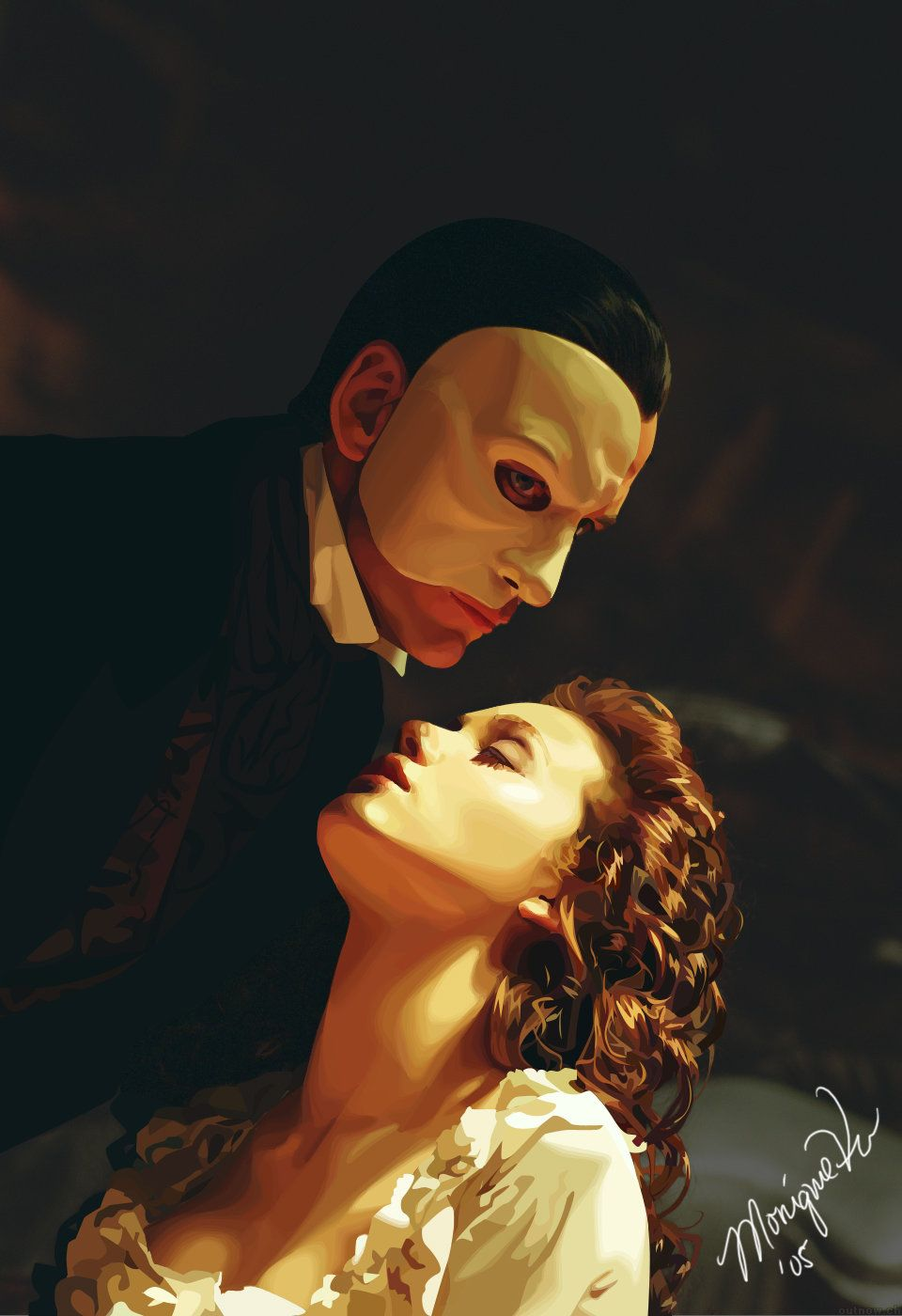 From the Phantom of the opera, by decep on Deviantart