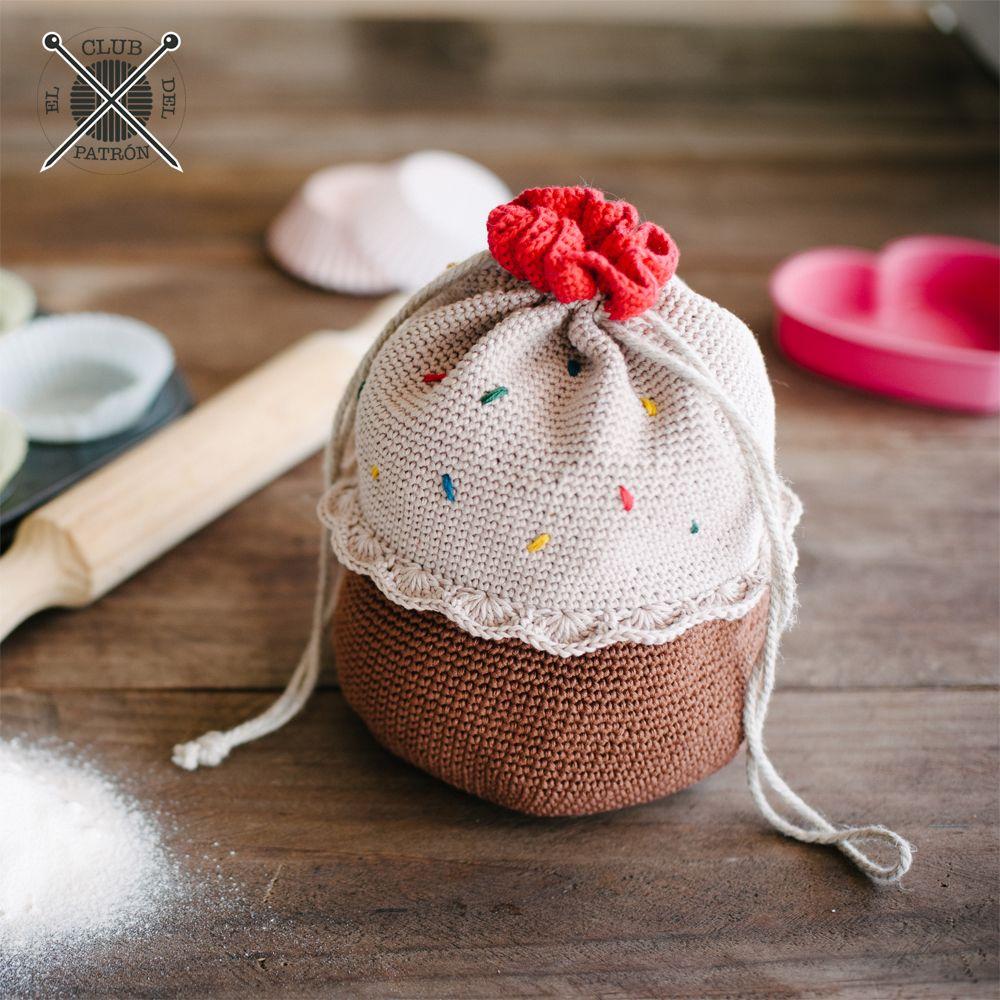 El Club del Patrón: Una bolsa madalena de ganchillo | Crochet ...
