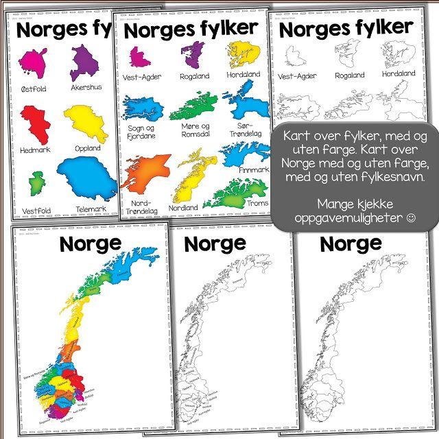 gratis kart norge Norske fylker   undervisningsopplegg for å utforske | Pinterest  gratis kart norge