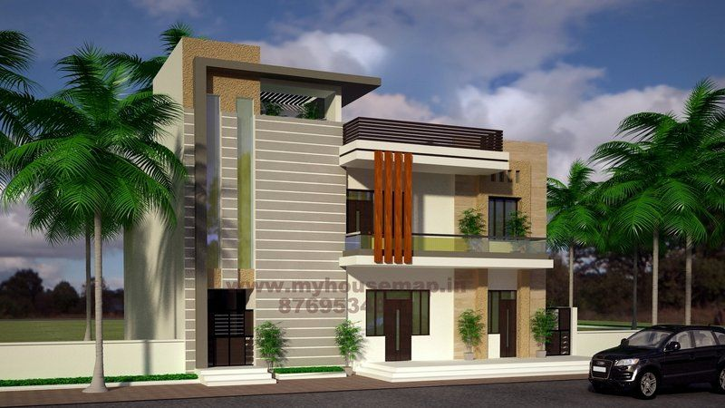 Modern elevation design of residential buildings house for Design of building house