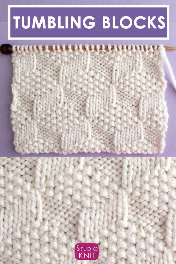 Tumbling Moss Block Stitch Knitting Pattern | Studio Knit