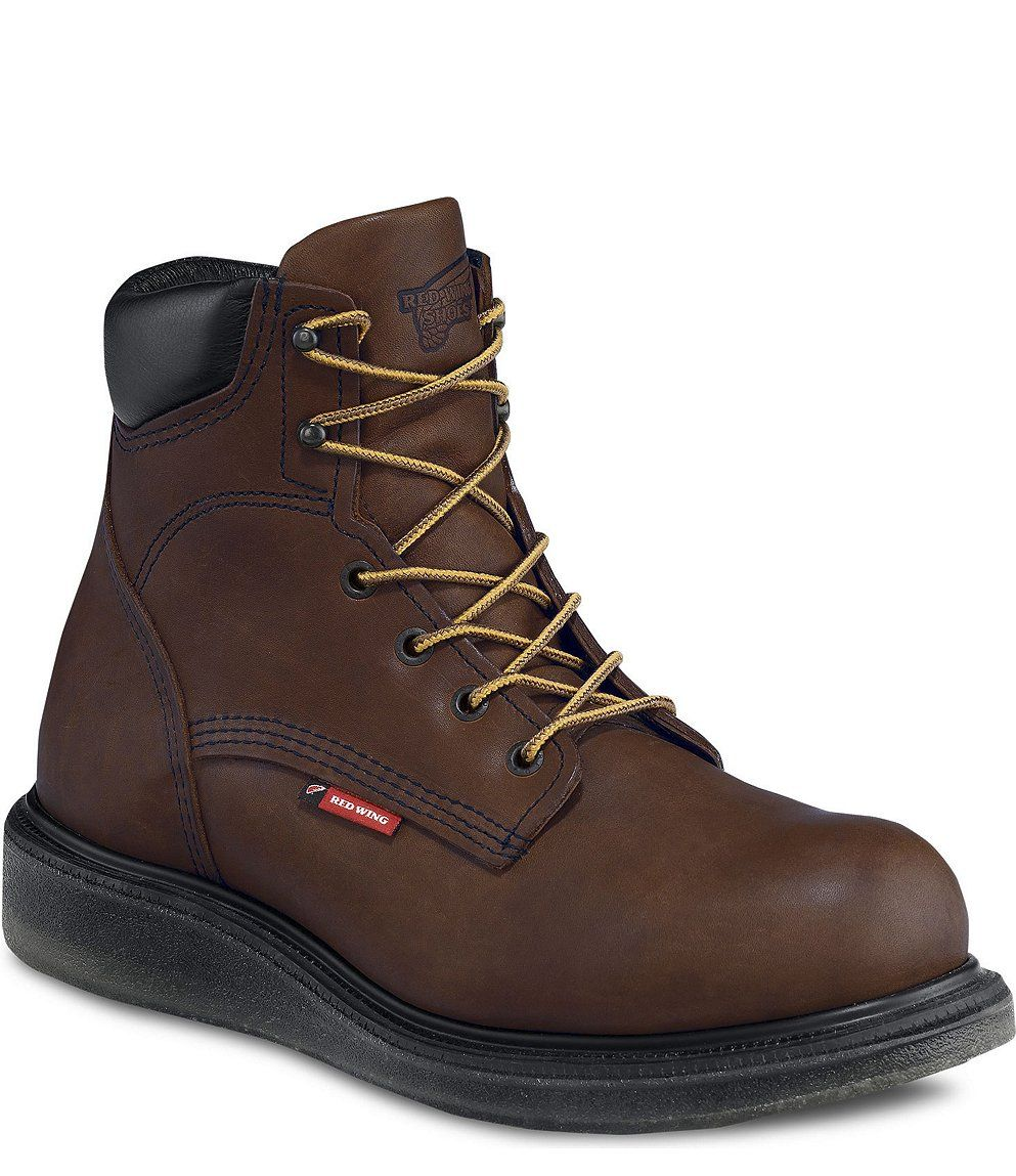 Red Wing Safety Boots - 676 Red Wing Men's - 6-inch Boot Brown ...
