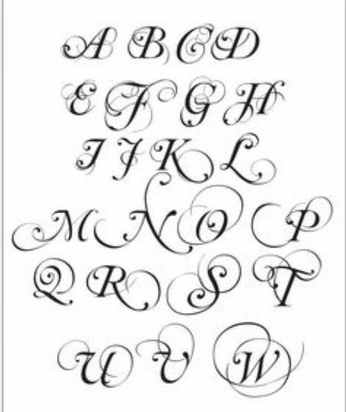 Cursive Swirl Font Fonts Caligraphy Pinterest