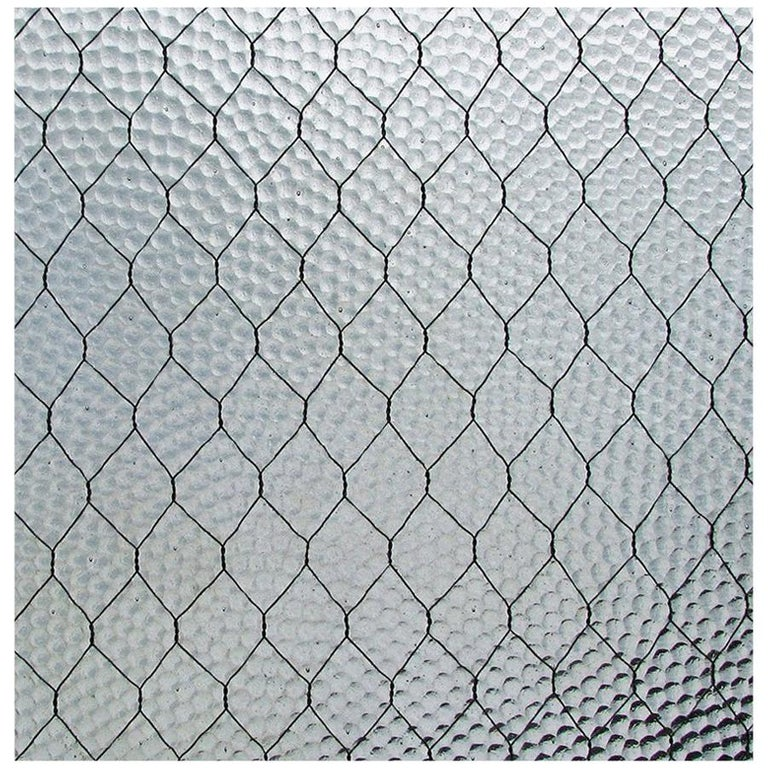 1920s Pebbled Vintage Chicken Wire Glass In 2021 Wired Glass Vintage Industrial Decor Industrial Decor