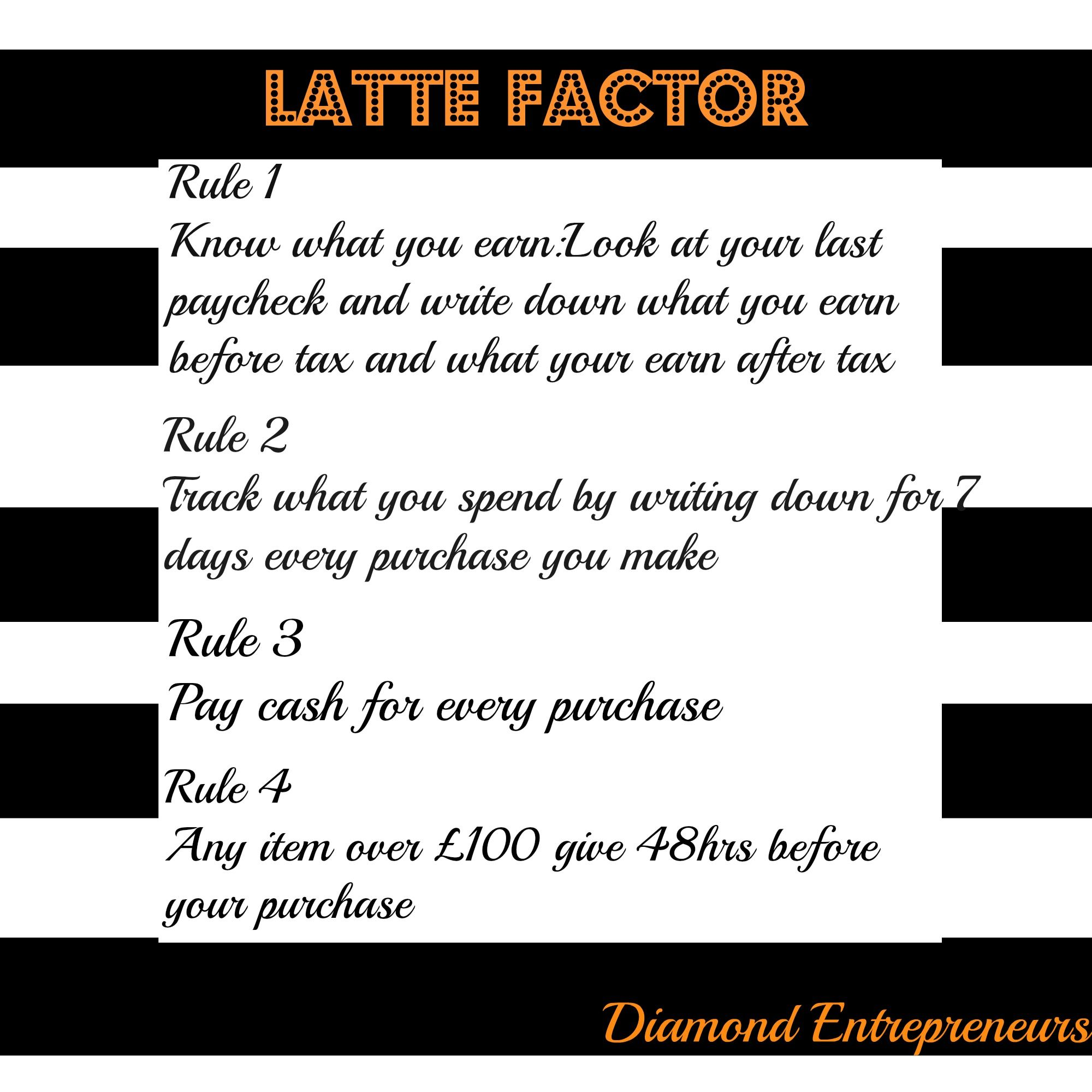 How To Implement The Latte Factor