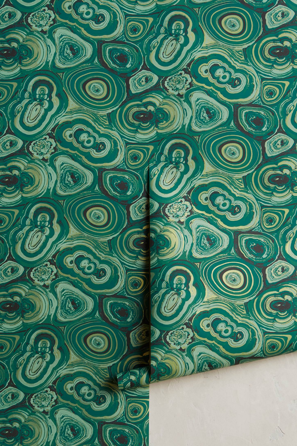Malachite Wallpaper By Anthropologie In Green Wall Decor Malachite Wallpaper Wallpaper Manufacturers Home Wallpaper