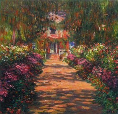 Pathway In Monet S Garden At Giverny 1902 Pinturas Arte Claudia S