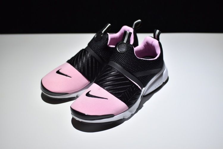 New arrival Nike air presto flyknit black white pink 829553 007 Womens Sport  Running Shoes 083793c8d