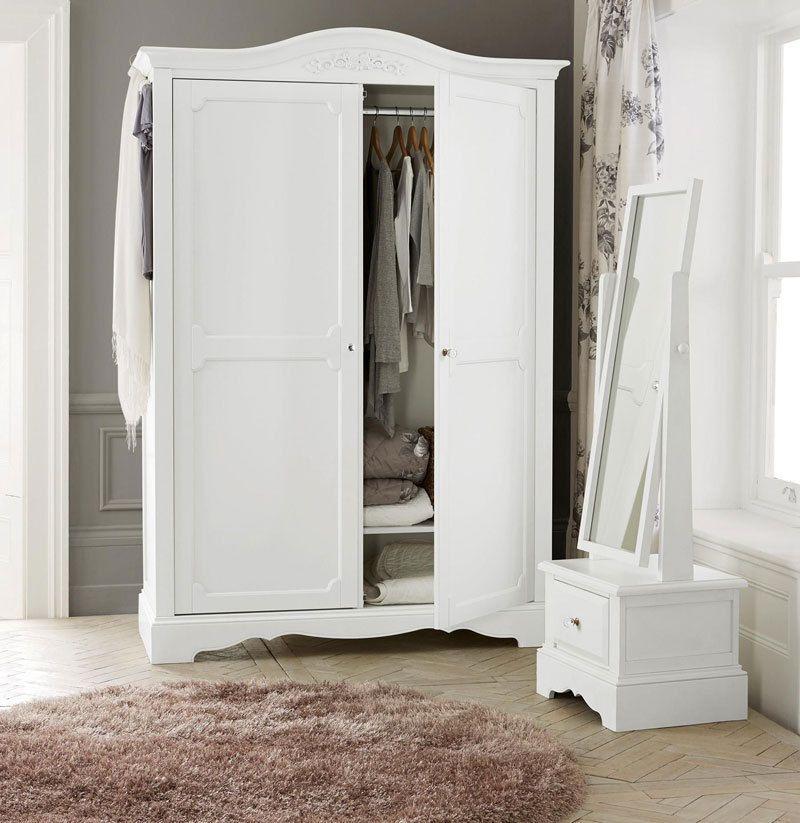 Kleiderschrank TAMME Weiß Schlafzimmerschrank Schlafzimmer Schrank  Dielenschrank | EBay