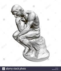 Sculpture Thinker 3d Statue Of A Seated Man Leaning His Hand To His Face Vector Illustration Stock Vector Image Art Statue Vector Illustration Sculpture