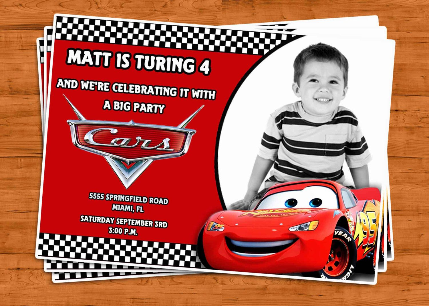 Cars birthday invitation u print 1200 via etsy mcqueen cars birthday invitation u print 1200 via etsy cars birthday invitations filmwisefo
