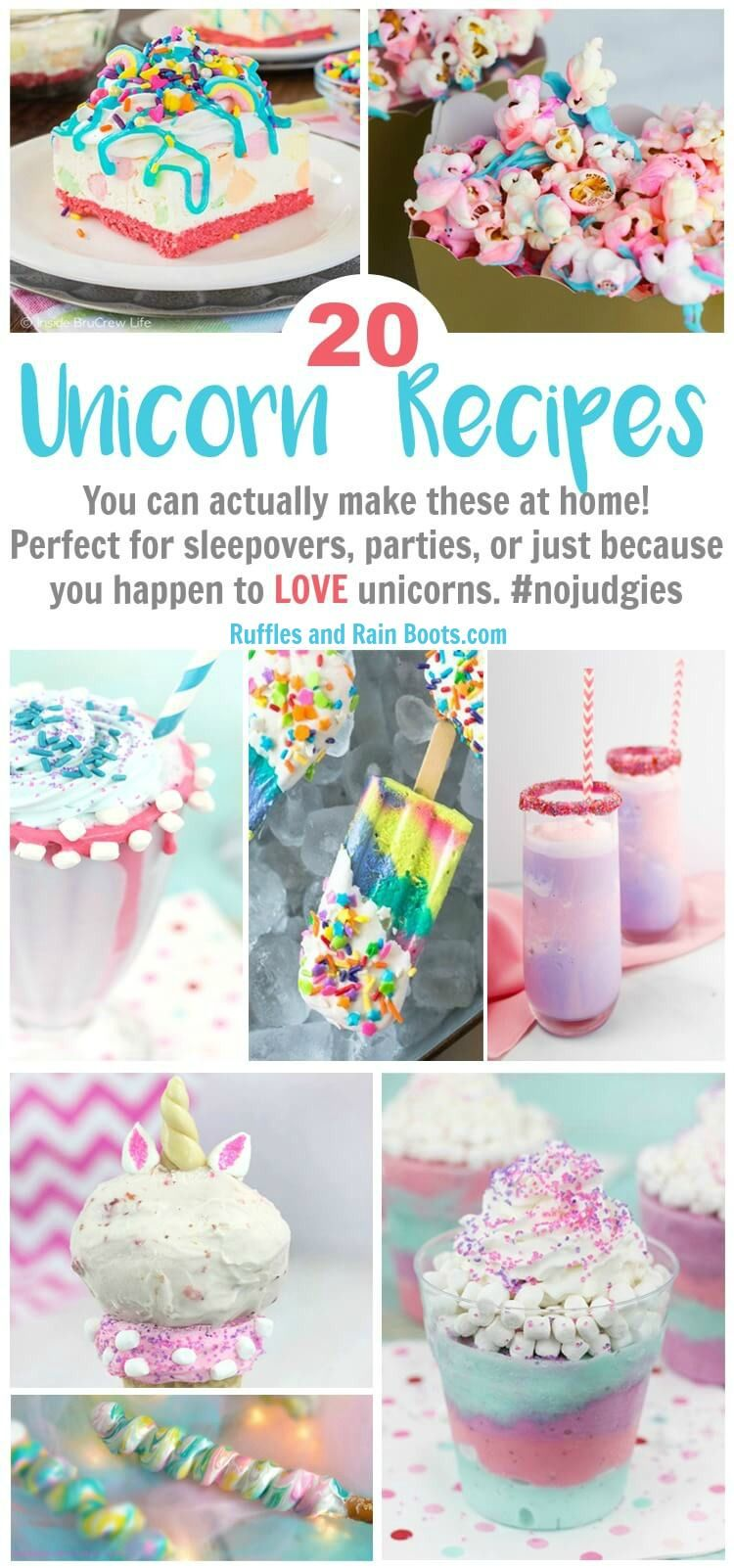 20 of The Best Unicorn Foods You Can Actually Make at Home - Unicorn pool party, Unicorn foods, Unicorn birthday parties, Unicorn party, Birthday party planning, Rainbow birthday - Make one (or all) of these 20 of the best unicorn recipes you can actually make yourself! They're perfect for unicorn lovers, birthdays, or parties