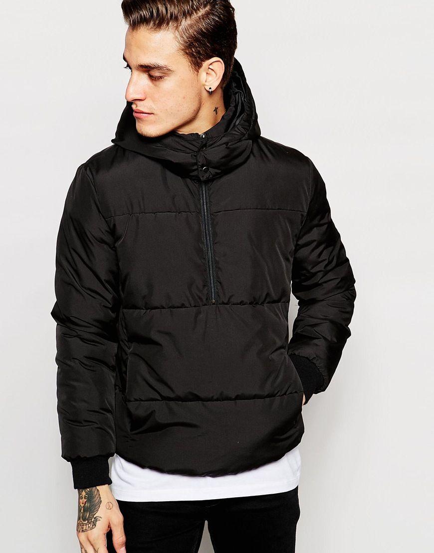 Hooded denim jacket asos