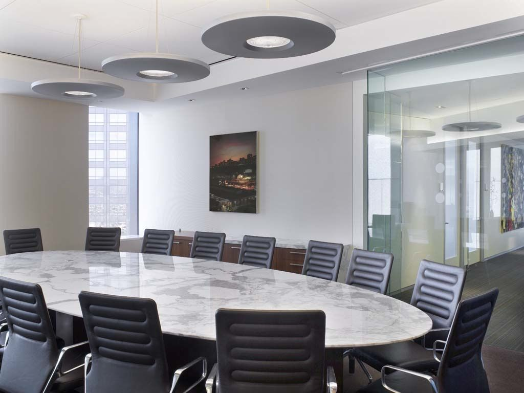 White marble meeting table combined with -  Conference Table With Marble Top